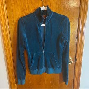 JUICY COUTURE- velour track jacket.